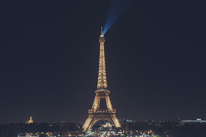 Eiffel Tower in Paris during night time