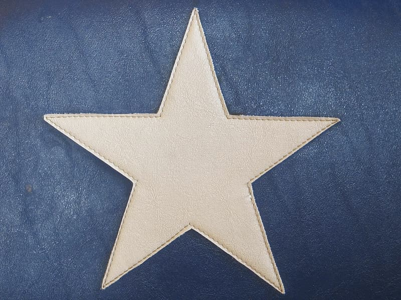 White leather star