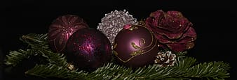 Five assorted-color baubles