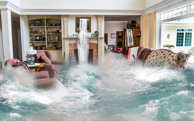 Photo of sofa set with body of water
