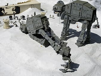 High-angle photography of two black robots at daytime
