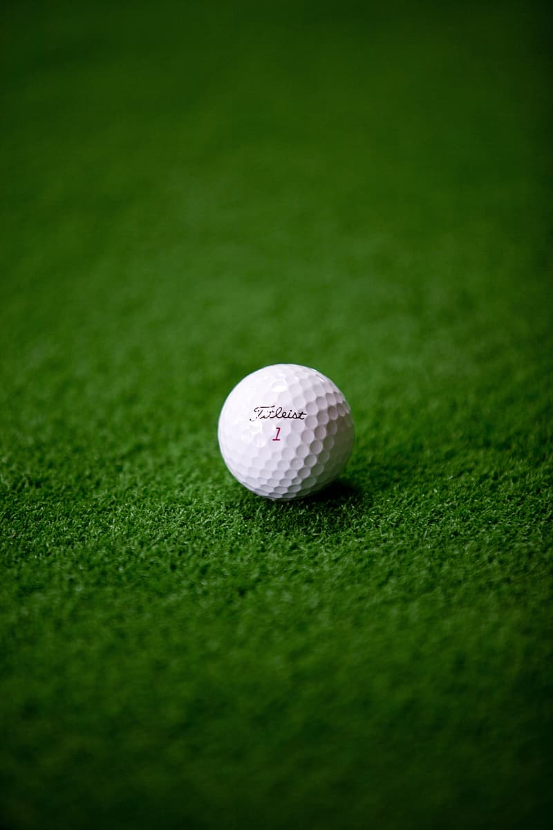 White Titleist golf ball