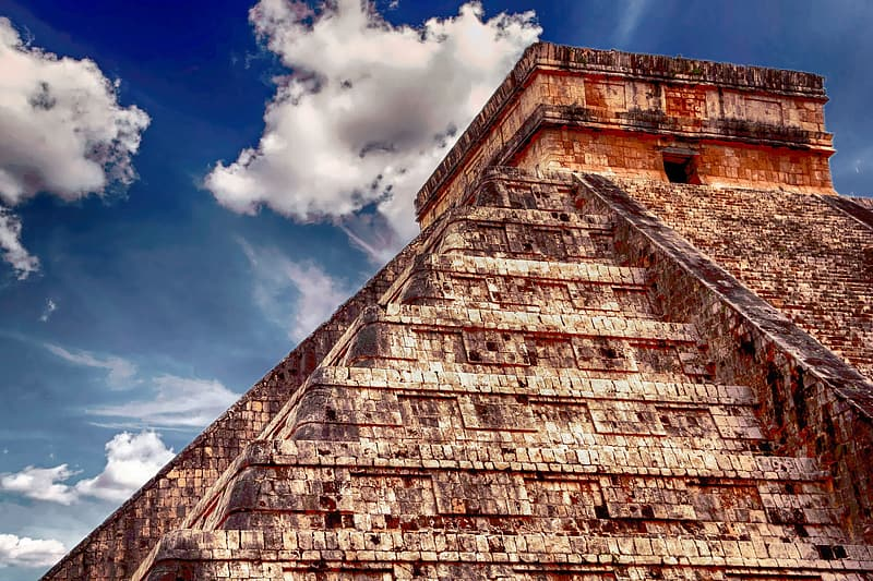 HDR photography of brown pyramid during daytime