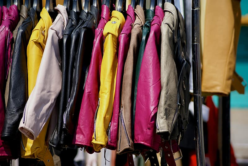 Assorted-color leather clothes lot