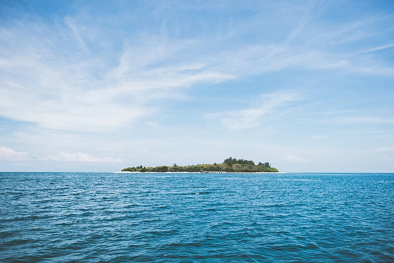 Photo of island in body of water