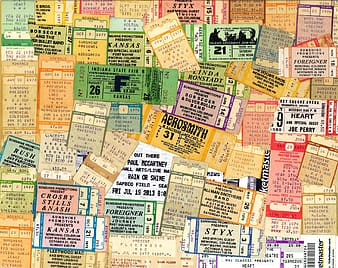 Assorted-color-and-labeled ticket lot