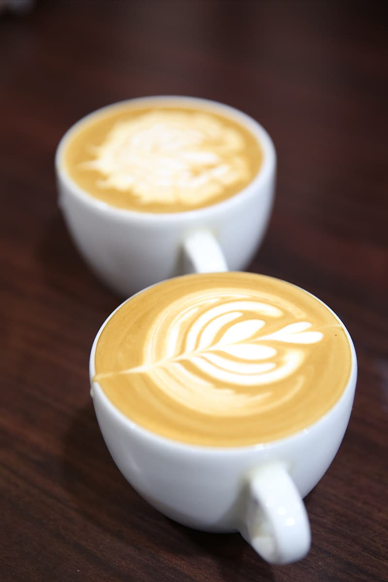 Two cup of cappuccinos