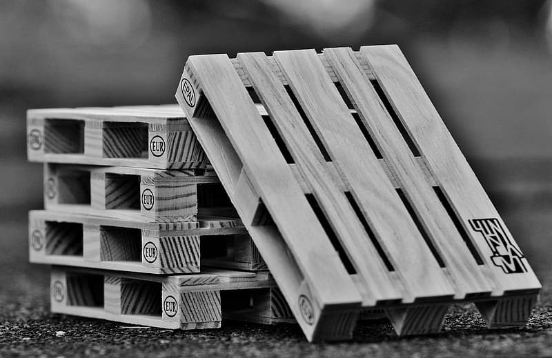 Grayscale photo of wooden plank