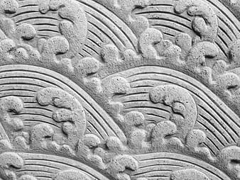untitled, fresco, wave, stone, carving, water, rock, architecture, carving - Craft Product, art and craft