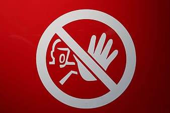 Red and white no smoking sign