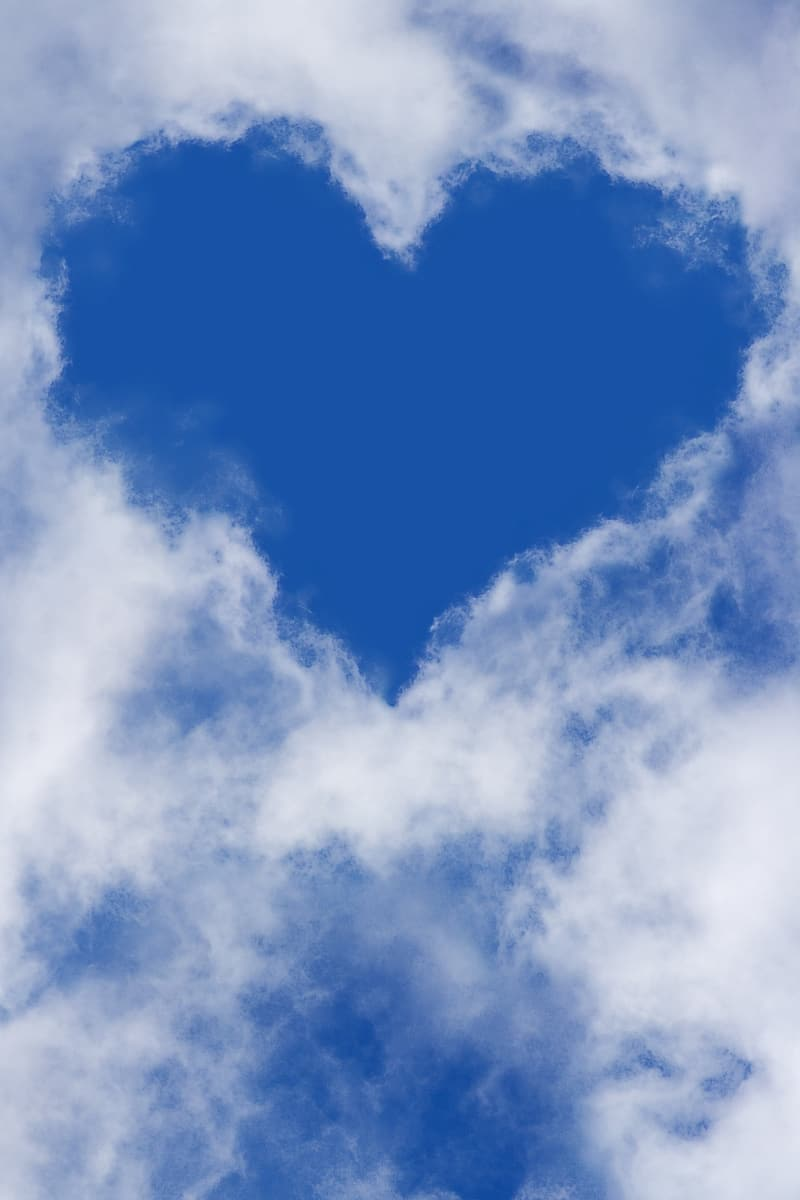 Cloud heart-themed photography