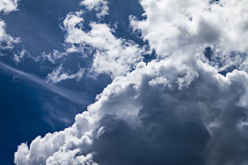 Low-angle view of cirro-cumulus clouds