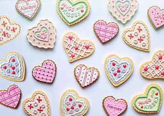 White and pink heart shaped decors