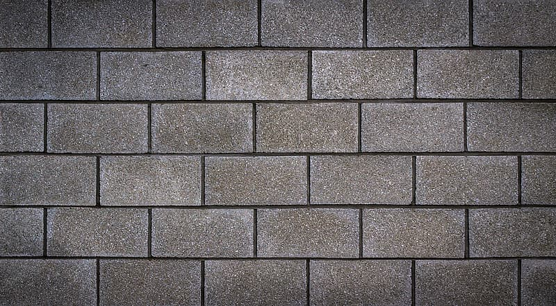 Gray concrete wall bricks