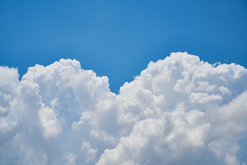 White clouds and blue sky photo