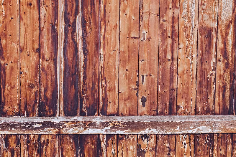 Photo of brown wooden fence
