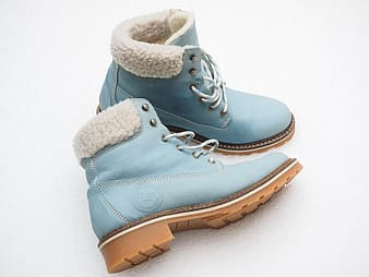 Pair of blue leather boots