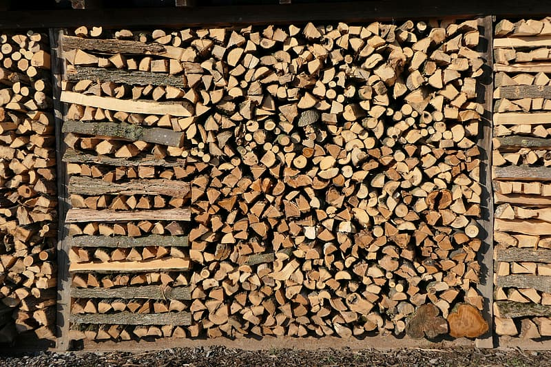 Pile of firewoods