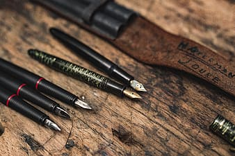 Close up view of a fountain pens