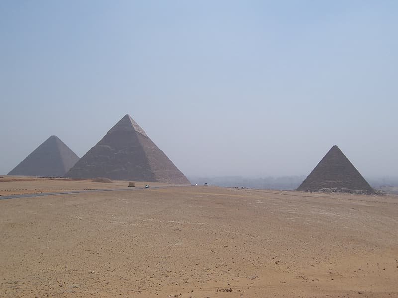 Pyramid on desert during daytime