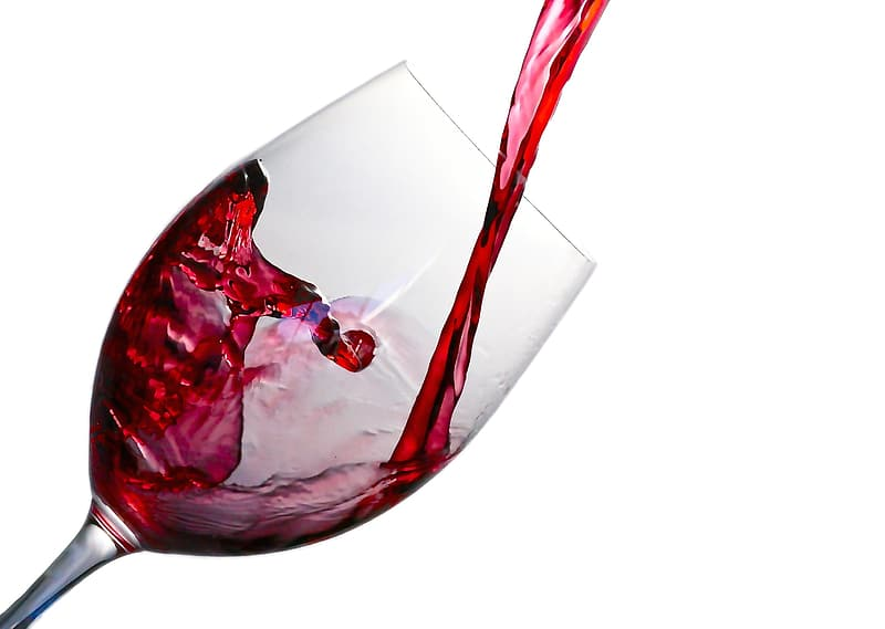 Wine glass filled with wine