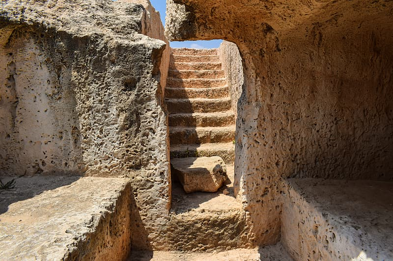 Photo of brown concrete stairs
