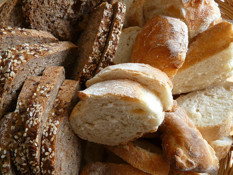 Sliced baked breads