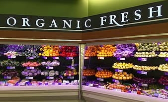 Organic Fresh grocery section