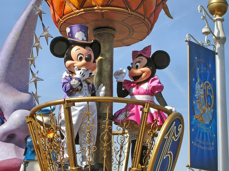 Minnie Mouse and Mickey Mouse in Disneyland