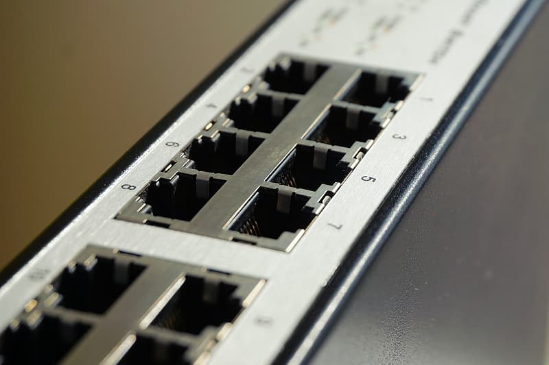White and grey router port