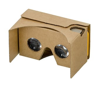 Brown cardboard box VR glasses