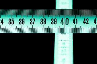 Macro photography of measuring tape