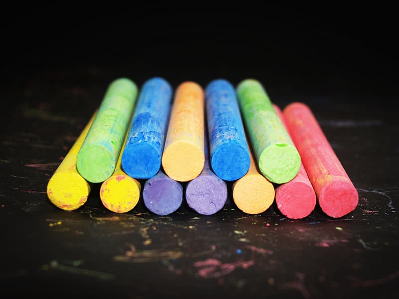 Photo of assorted colored chalks
