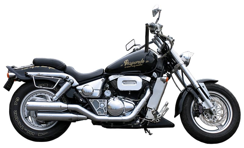 Black and chrome cruiser motorcycle