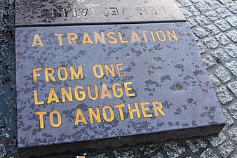 A translation from one language to another printed board