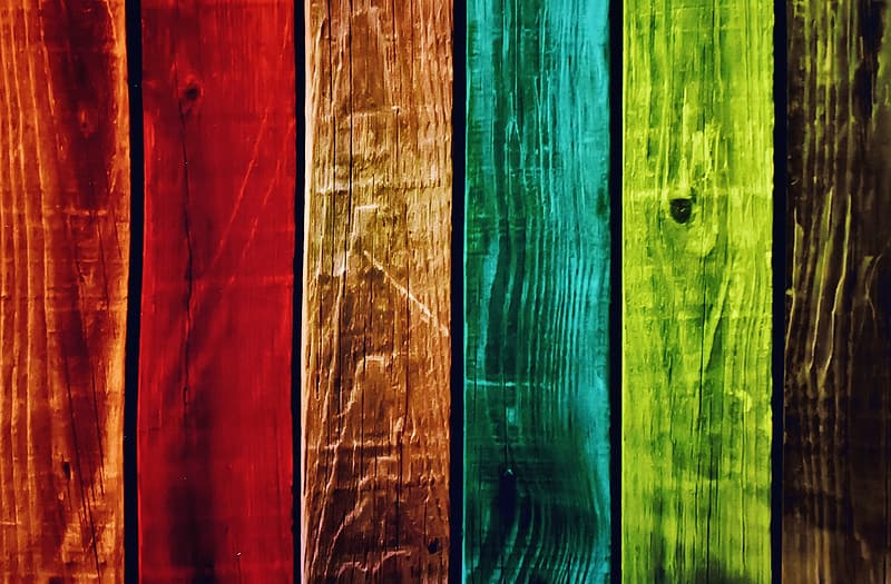 Multicolored wood pallet painting