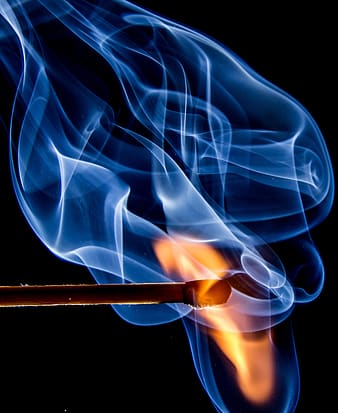 Flaming match