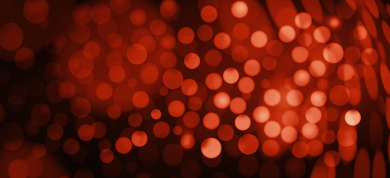 Red bokeh photography