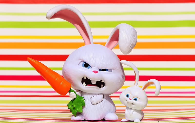 The Life of Pets rabbit figurines