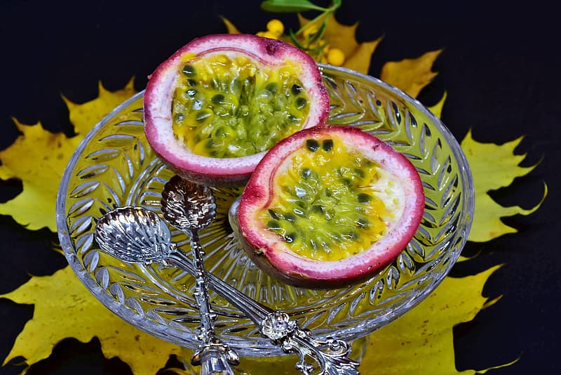 Sliced watermelon on blue and yellow ceramic plate