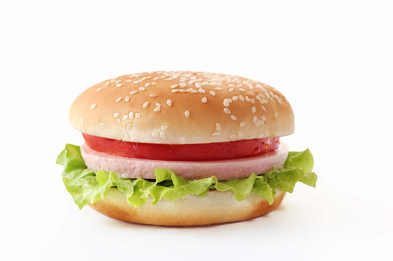 Hamburger with vegetable and tomato