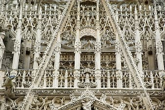 Structural photography of beige structure