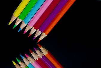 Assorted color of colored pencils
