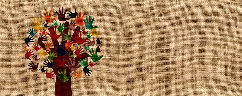 Brown red and green floral textile