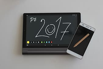Tablet displaying PF 2017