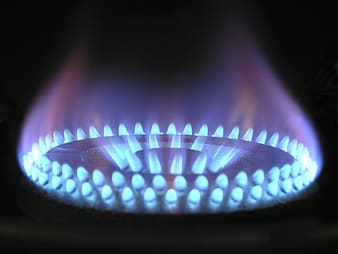Macro photography of turned on gas burner