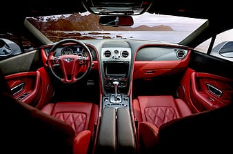 Red leather interior car