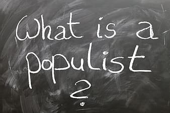 What is a populist text