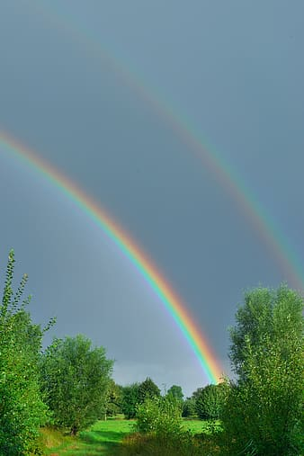 Rainbow photography during daytime