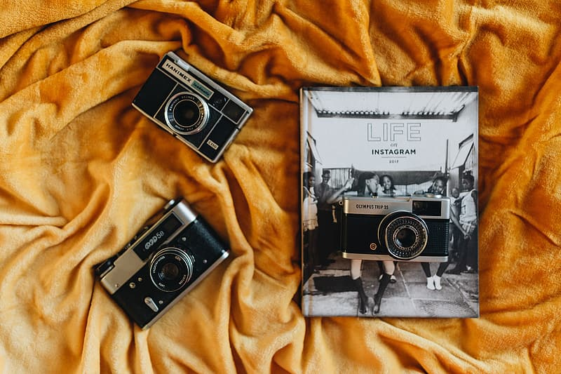 Life on Instagram Book and Vintage Cameras